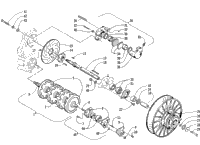 DRIVE TRAIN SHAFTS AND BRAKE ASSEMBLIES