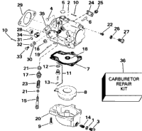 CARBURETOR 60 MODELS ONLY