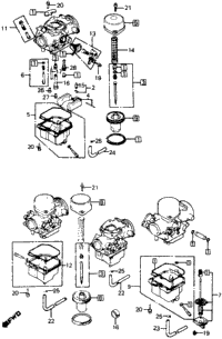 CARBURETOR COMP PARTS