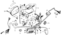 WIRE HARNESS / BATTERY / IGNITION COIL / RIGHT SIDE COVER