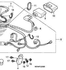 Genuine Honda 90620-SB2-003 Wire Harness Band