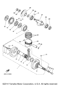 Crankshaft. Piston