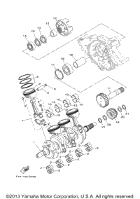engine diagram pistons schedule 2009 yamaha sx210 (frt1100bh) oem parts, babbitts online