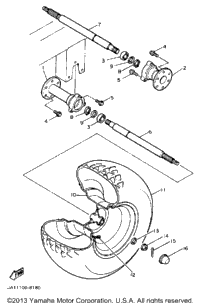 Rear Axle Wheel