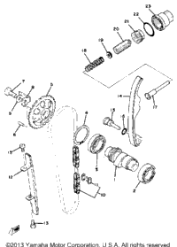 Camshaft - Chain Tensioner