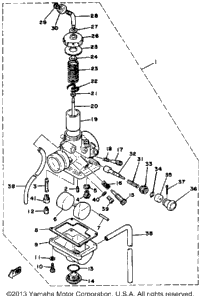 Carburetor Mx100h - J - K