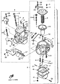 Carburetor Xv1000l N