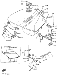 Fuel Tank (Non-California Model)