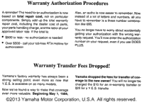 Audio Warranty Service Pg 1