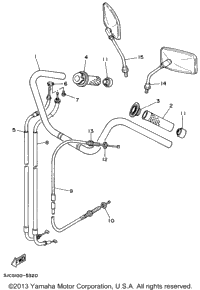 Steering Handle Cable