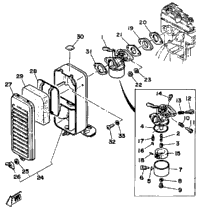 Carburetor - Air Cleaner (~800100)