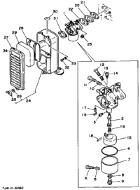 Carburetor - Air Cleaner (800101~)