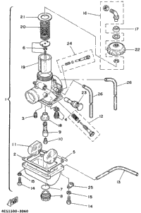 Carburetor (Yz80h)
