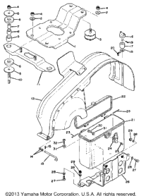 Engine Bracket - Luggage Box
