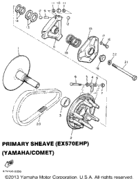 Primary Sheave (Ex570ehp) (Yamaha - Comet)