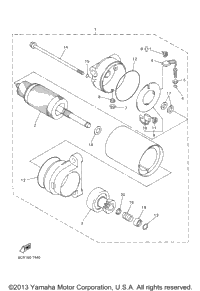 Alternate St Motor Assy