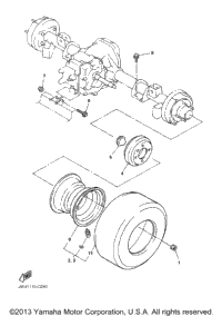 Rear Axle Mount Wheel